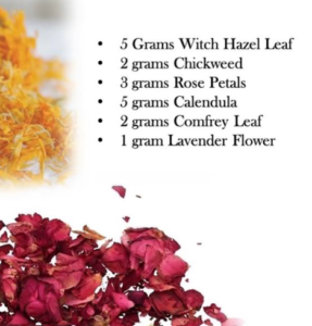 recipe for a toning & tightening herbal bath blend