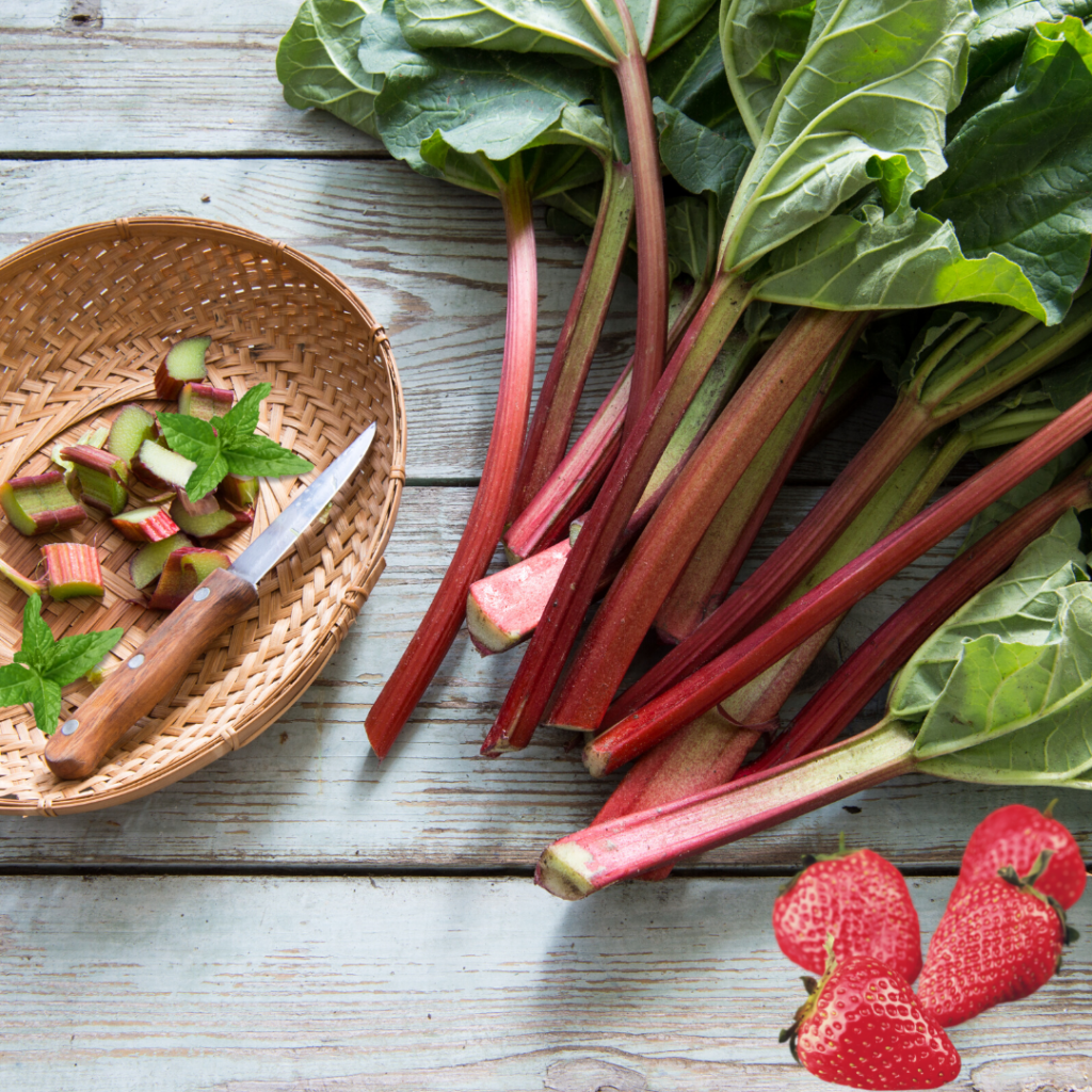 Rhubarb-Mint Salad