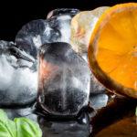 Orange-Basil Wine Ice Cubes