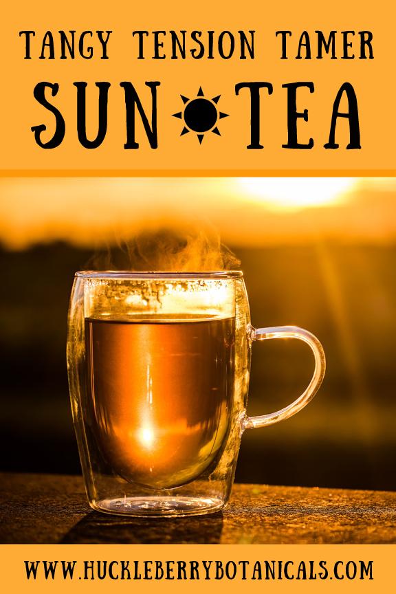glass mug of sun tea being illuminated by the sun