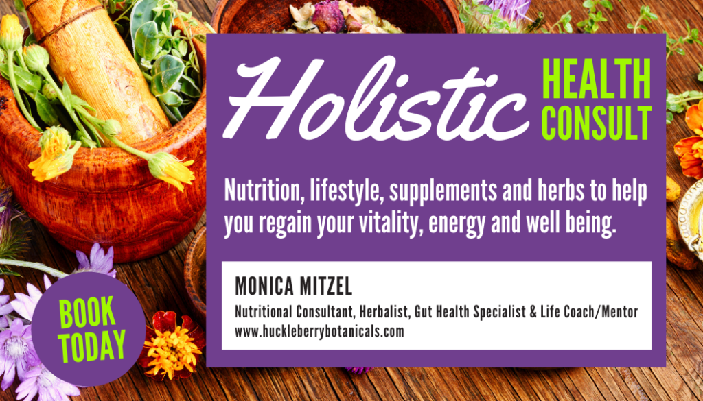 Monica Mitzel, nutritional consultant, herbalist, gut health specialist & life coach/mentor