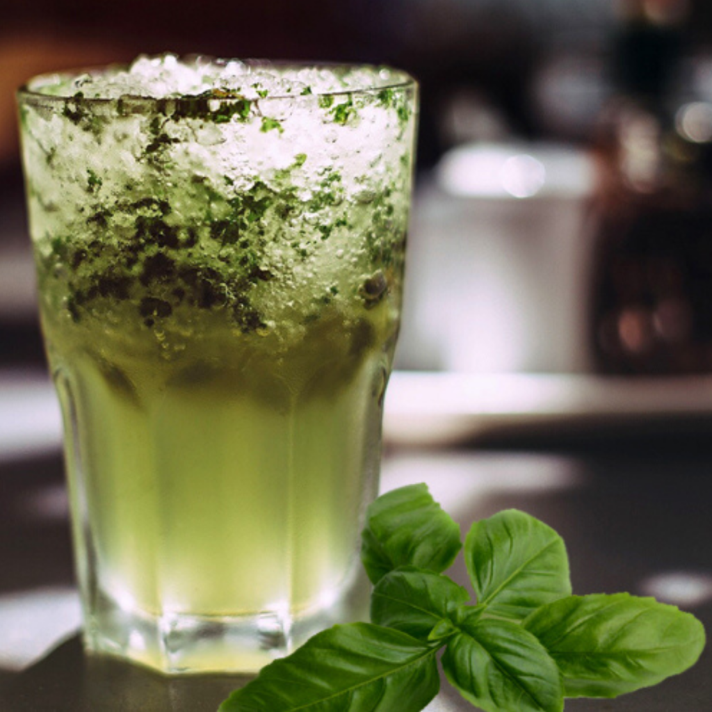 Pear Basil Cocktail