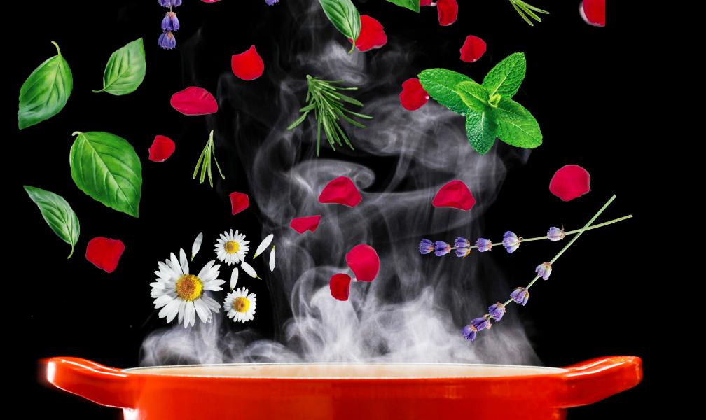 Basic Herbal Steam for Aging Skin