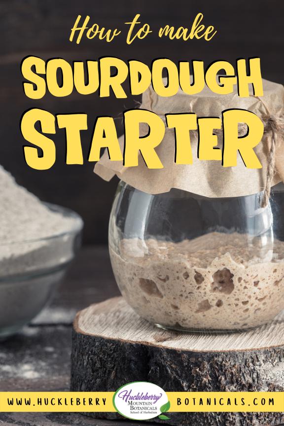 glass jar of sourdough starter on a wooden trivet
