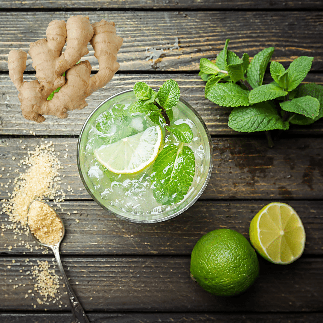 Virgin Mojito with Ginger